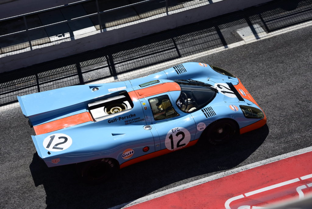 Porcshe 917 blue orange race car