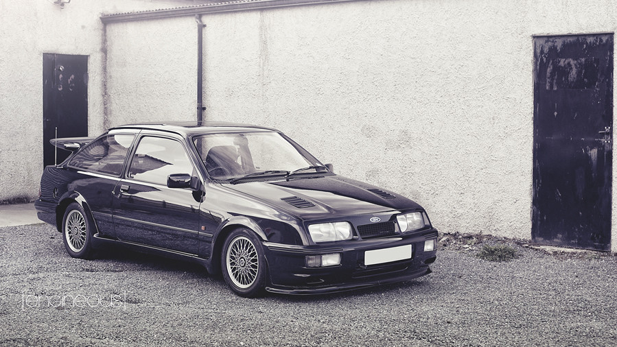 Ford siera rs cosworth black